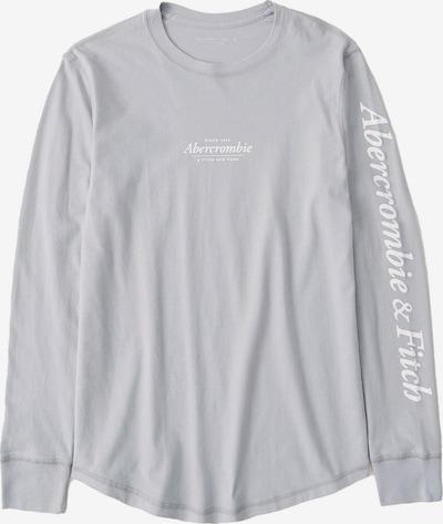 Marškinėliai iš Abercrombie & Fitch , spalva - šviesiai pilka / balta, Prekių apžvalga