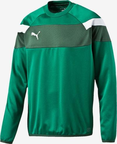 PUMA Sweatshirt 'Spirit' in grün / weiß, Produktansicht