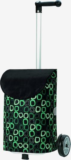 Andersen Shopper Trolley 'Lome' in de kleur Groen / Zwart, Productweergave