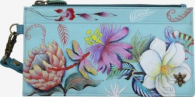 ANUSCHKA Brieftasche 'Jardin Bleu' aus handbemaltem Leder in mischfarben, Produktansicht