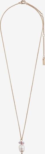 Pilgrim Chaîne 'Poesy' en or / violet clair / blanc perle, Vue avec produit