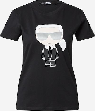 Karl Lagerfeld T-Shirt in beige / grau / schwarz / weiß, Produktansicht
