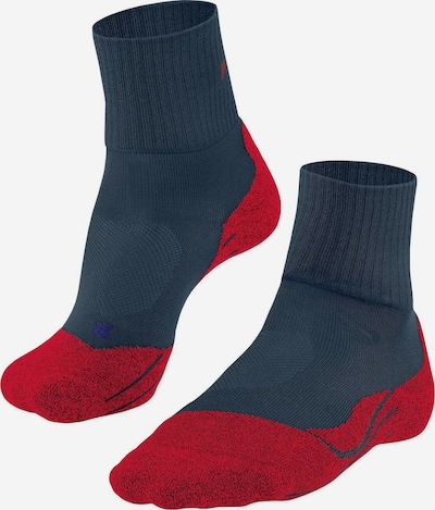 FALKE Athletic Socks in marine blue / Blood red, Item view