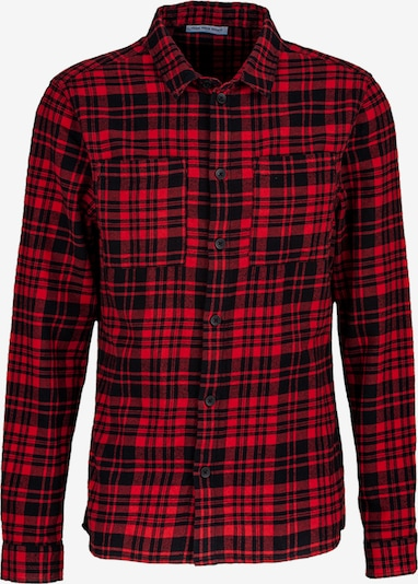 Young Poets Society Hemd  'Mic flannel 214' in rot / schwarz, Produktansicht
