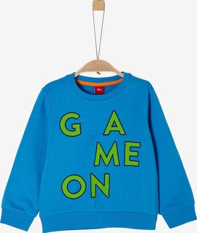 s.Oliver Sweatshirt in blau / grün, Produktansicht