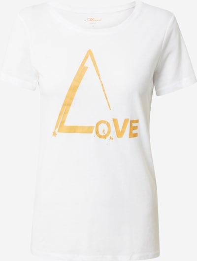 Mavi Shirt 'Love' in de kleur Goud / Wit, Productweergave