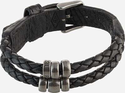 FOSSIL Armband in de kleur Zwart / Zilver, Productweergave