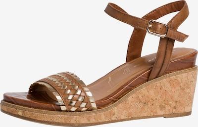 Sandale cu baretă TAMARIS pe brocart / auriu, Vizualizare produs
