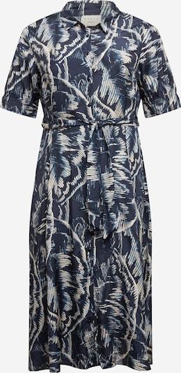 KAFFE CURVE Robe-chemise 'Valentin' en bleu marine / blanc, Vue avec produit