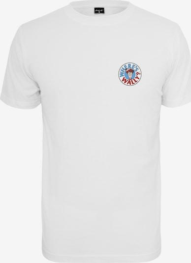 Merchcode T-shirt en mélange de couleurs / blanc: Vue de face