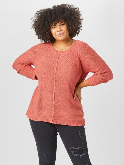 ONLY Carmakoma Pullover 'Foxy' in rot, Modelansicht