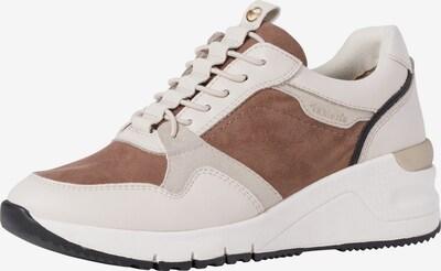 Sneaker low TAMARIS pe bej / alb kitt / maro, Vizualizare produs