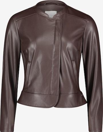 Betty & Co Blazer-Jacke mit Reißverschluss in Braun