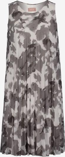 Cartoon Plisseekleid ohne Arm in grau / weiß, Produktansicht