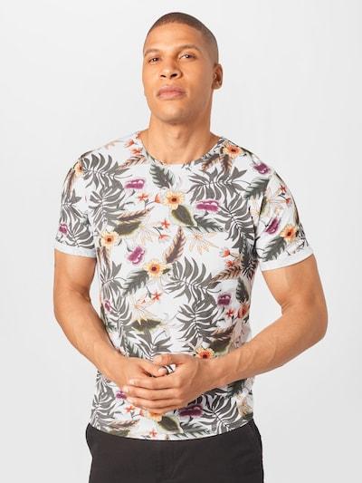 Key Largo Shirt 'MT PLANTS' in de kleur Gemengde kleuren / Wit: Vooraanzicht