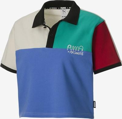 PUMA Shirt in rauchblau / jade / dunkelrot / schwarz / offwhite, Produktansicht