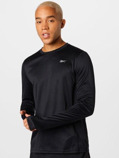 Reebok Sport Funktionsshirt in schwarz / weiß: Frontalansicht