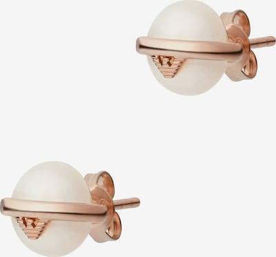 ARMANI Ohrringe in rosegold / perlweiß, Produktansicht