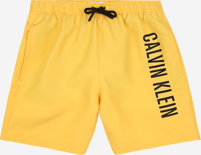 Calvin Klein Swimwear Badeshorts in gelb / schwarz, Produktansicht