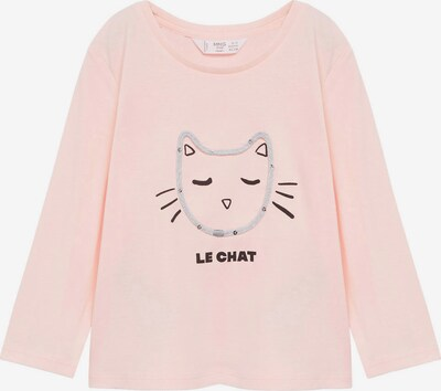 MANGO KIDS Shirt in de kleur Lichtgrijs / Rosa / Zwart, Productweergave
