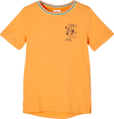 s.Oliver T-Shirt in orange / schwarz, Produktansicht