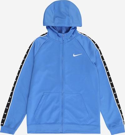 Nike Sportswear Sweatjacka i ljusblå / svart / vit, Produktvy