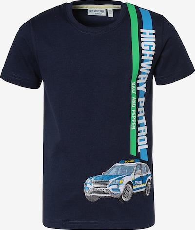 SALT AND PEPPER T-Shirt 'Polizei' in blau / nachtblau / grau / grün, Produktansicht