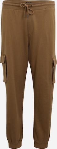 Pantalon cargo 'KIAN' Only & Sons Big & Tall en marron