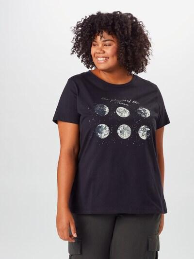 ONLY Carmakoma Koszulka 'Barney' w kolorze czarnym: Widok z przodu