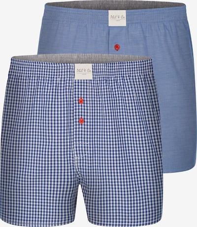 Phil & Co. Berlin Boxershorts 'Classic Double' in blau / weiß, Produktansicht