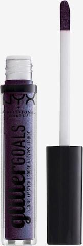 NYX Professional Makeup Lippenstift 'Glitter Goals' in Grau