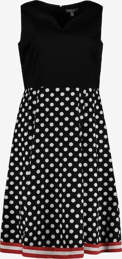 Ulla Popken Cocktailjurk in de kleur Vuurrood / Zwart / Wit, Productweergave