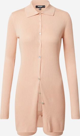 Missguided (Tall) Gebreid vest 'Collar' in de kleur Perzik, Productweergave