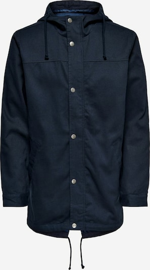 Only & Sons Tussenparka in de kleur Donkerblauw, Productweergave