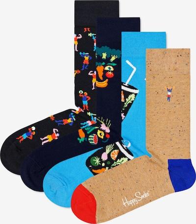 Happy Socks Socken in sand / navy / himmelblau / mischfarben / schwarz, Produktansicht