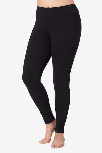 Ulla Popken Leggings in de kleur Zwart, Modelweergave
