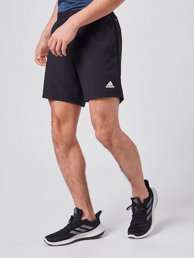 fekete ADIDAS PERFORMANCE Sportnadrágok 'RUN IT', Modell nézet