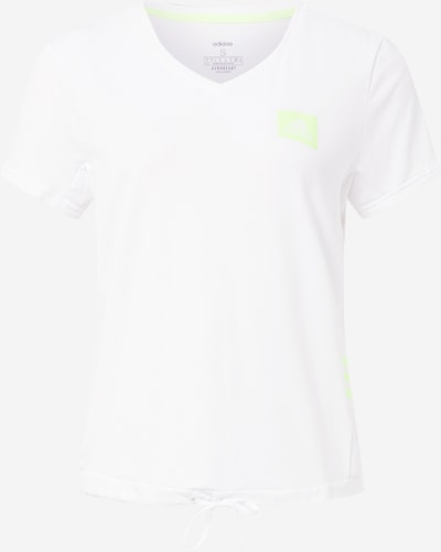 ADIDAS PERFORMANCE Functioneel shirt in de kleur Neongroen / Wit, Productweergave