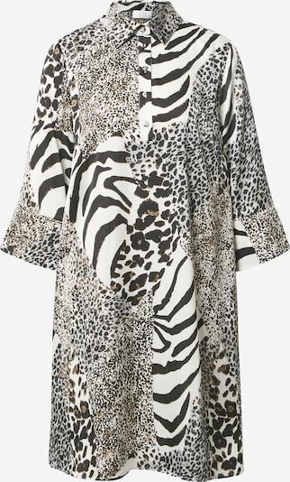 Abito camicia Love & Divine di colore marrone chiaro / grigio / nero / bianco, Visualizzazione prodotti