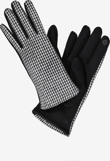 Ulla Popken Vingerhandschoenen in de kleur Zwart / Wit, Productweergave