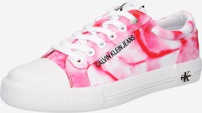 Sneaker low Calvin Klein Jeans pe roz / roșu / alb, Vizualizare produs