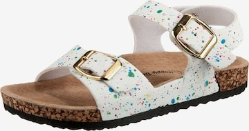 Happy Bee Sandals in White