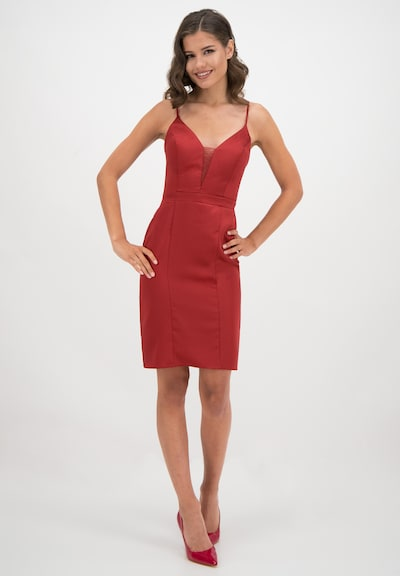 Prestije Satin Minikleid in rot, Modelansicht