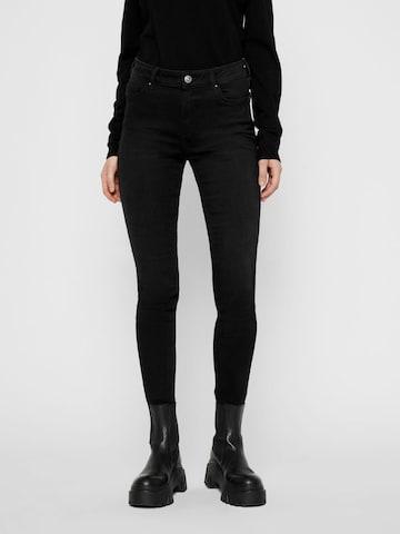 PIECES Jeans 'Delly' in Schwarz