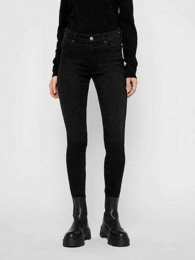 PIECES Jeans 'Delly' in schwarz: Frontalansicht