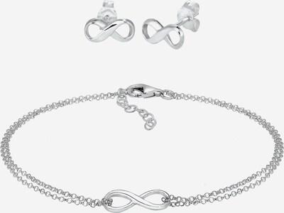 ELLI Schmuckset Infinity in silber, Produktansicht