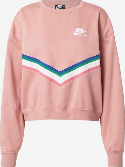 Nike Sportswear Sweatshirt in de kleur Blauw / Groen / Rosé / Wit, Productweergave