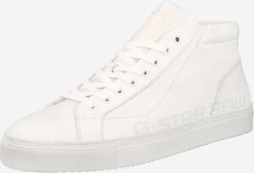Sneaker înalt de la G-Star RAW pe alb