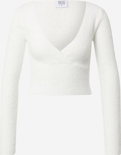 Pulover BDG Urban Outfitters pe alb natural, Vizualizare produs