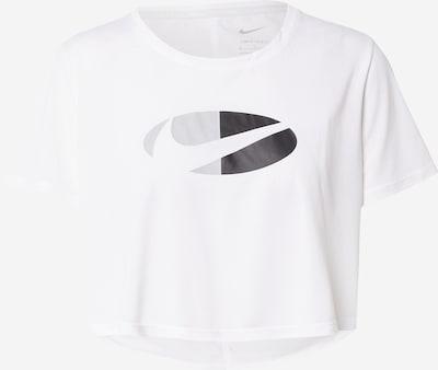 NIKE Sportshirt in grau / anthrazit / weiß, Produktansicht